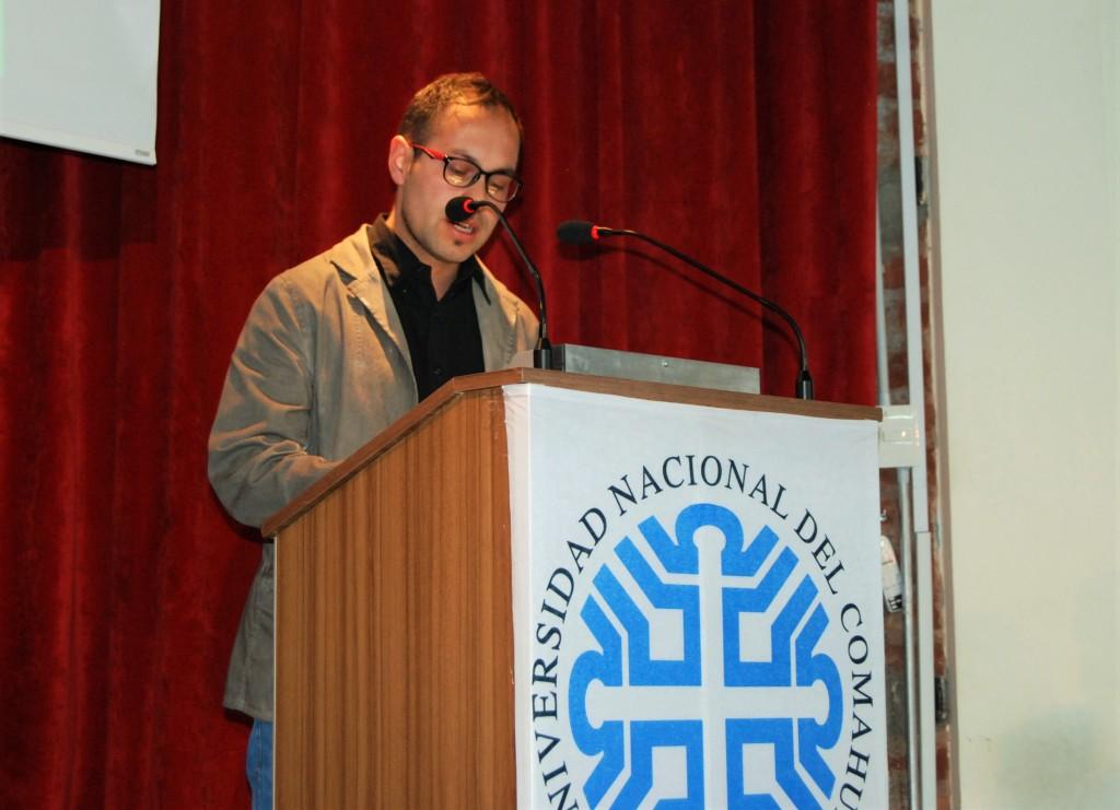 Santiago Díaz del Centro de Estudiantes UNCo Bariloche