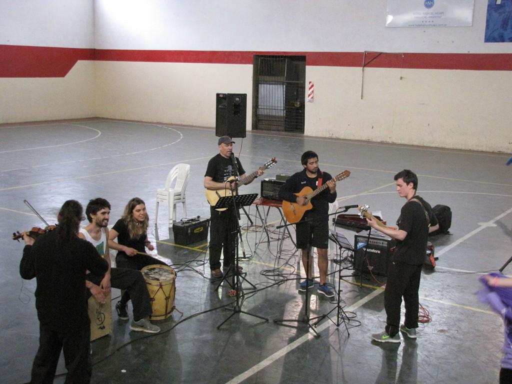 Chacarereando con los músicos