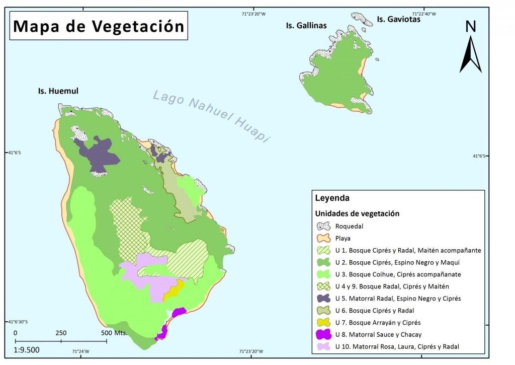 MApa de vegetación