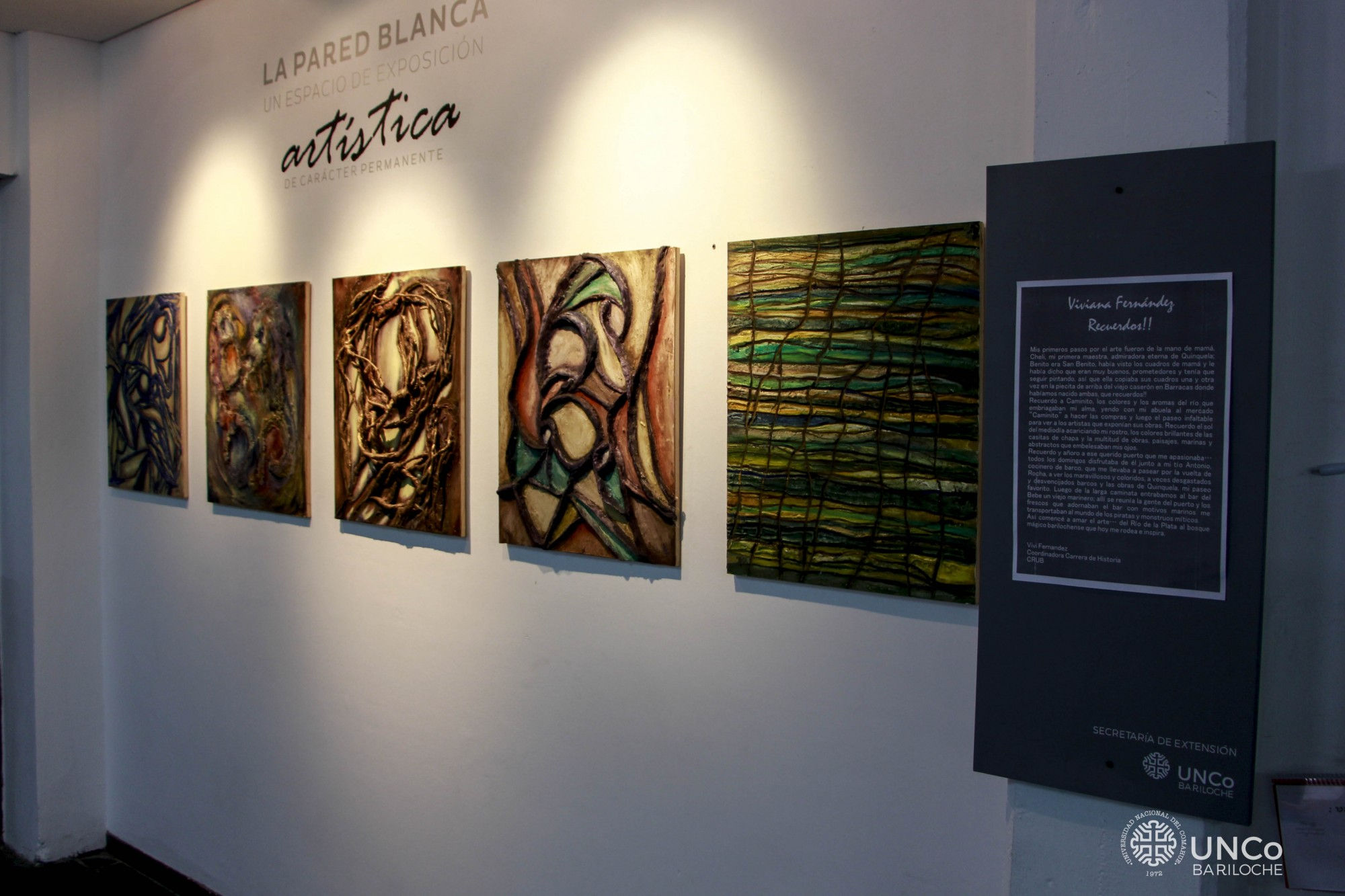 Muestra Viviana Fernández - Pared Blanca
