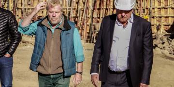 Avances en las obras del Gimnasio: Visita del Gobernador