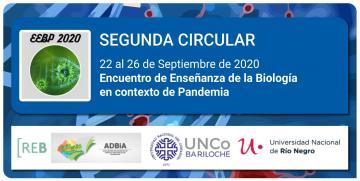 Segunda Circular del Encuentro de enseñanza de la Biología en contexto de pandemia