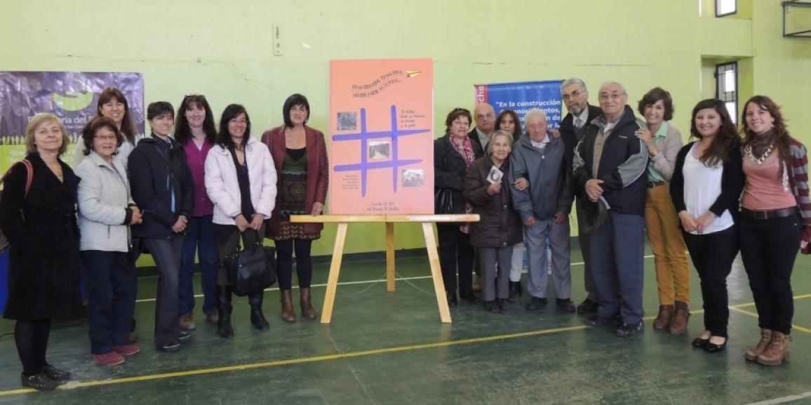 Presentación del libro gigante del barrio El Mallín