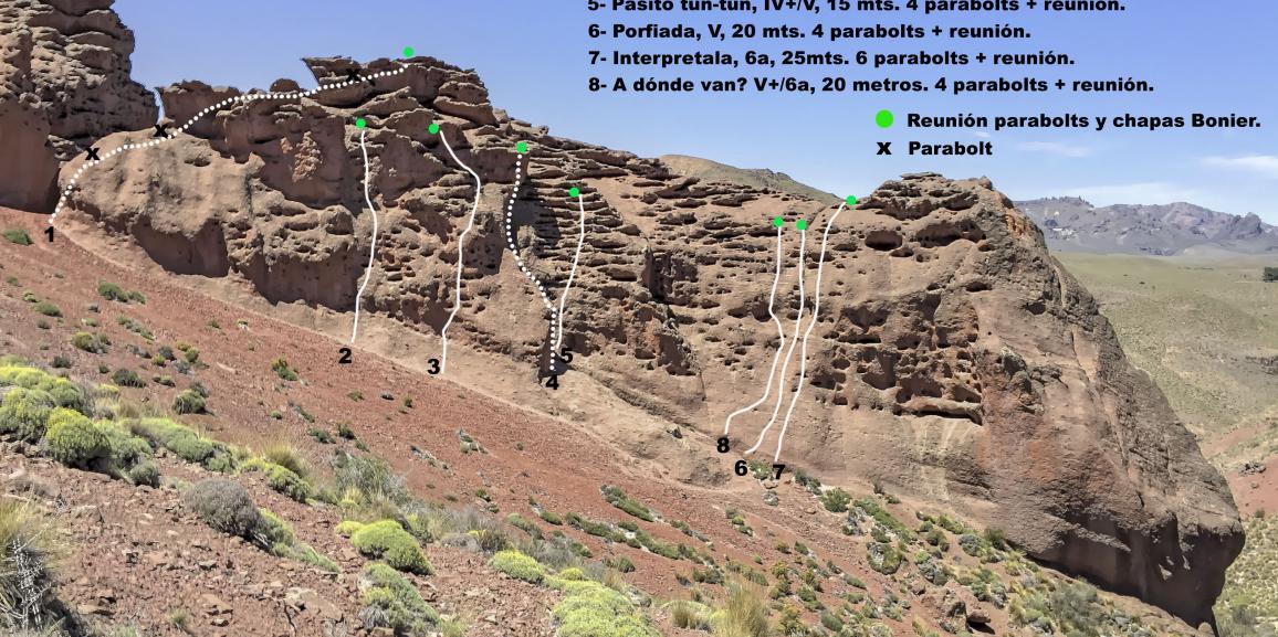 Estudiantes de la Carrera de Educación Física abren nuevas vías de escalada  en Villa Llanquín