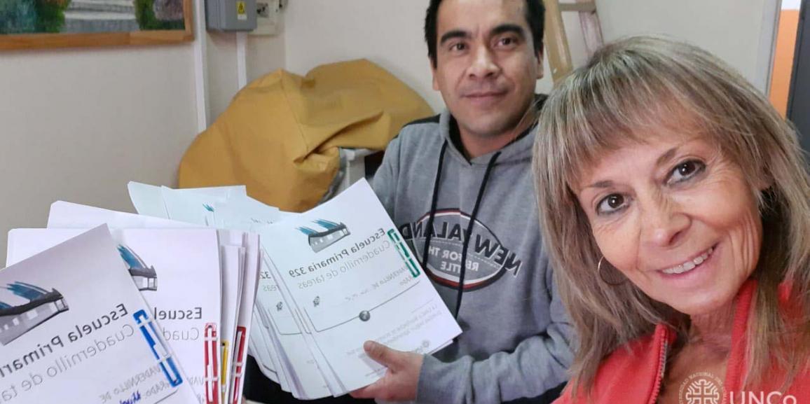 La UNCo Bariloche imprimió cuadernillos para la Escuela 329 del Pilar II