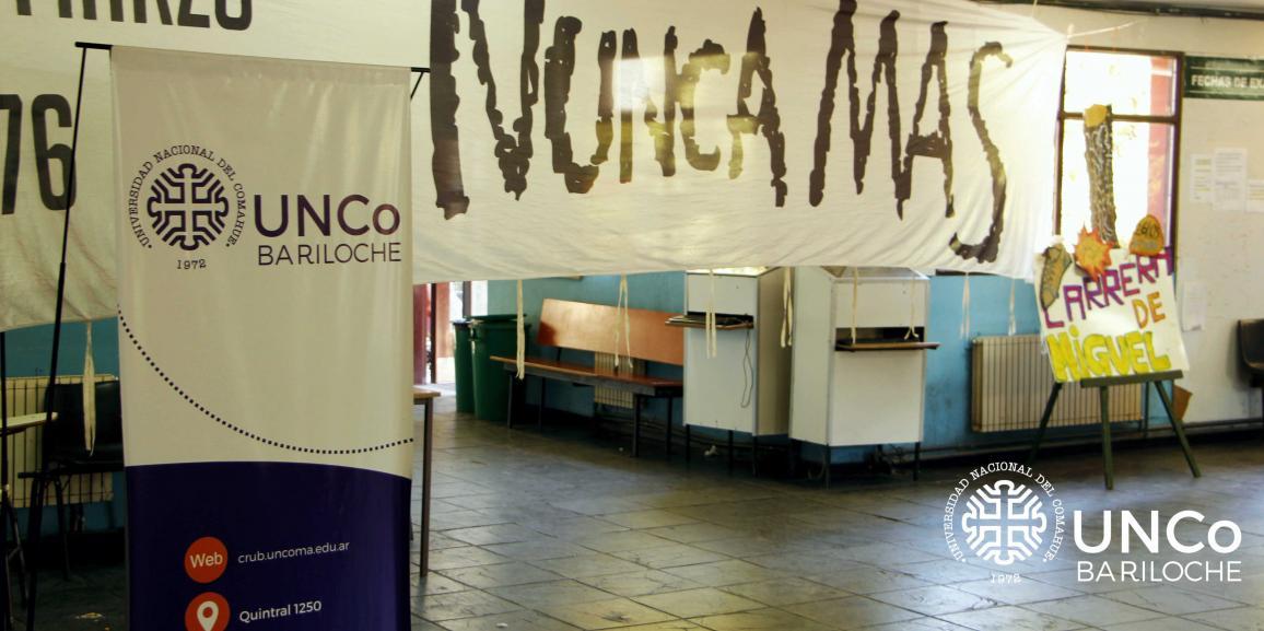 Declaración de la UNCo Bariloche sobre el 24 de marzo
