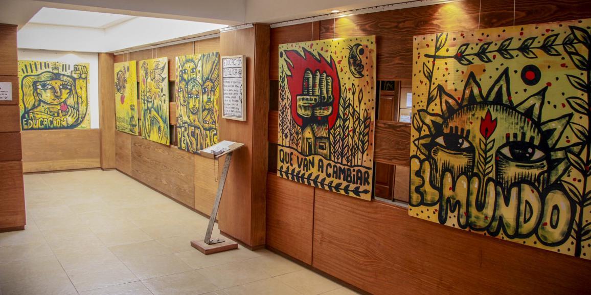 Se inauguró el Mural por la educación pública, del artista plástico Luxor
