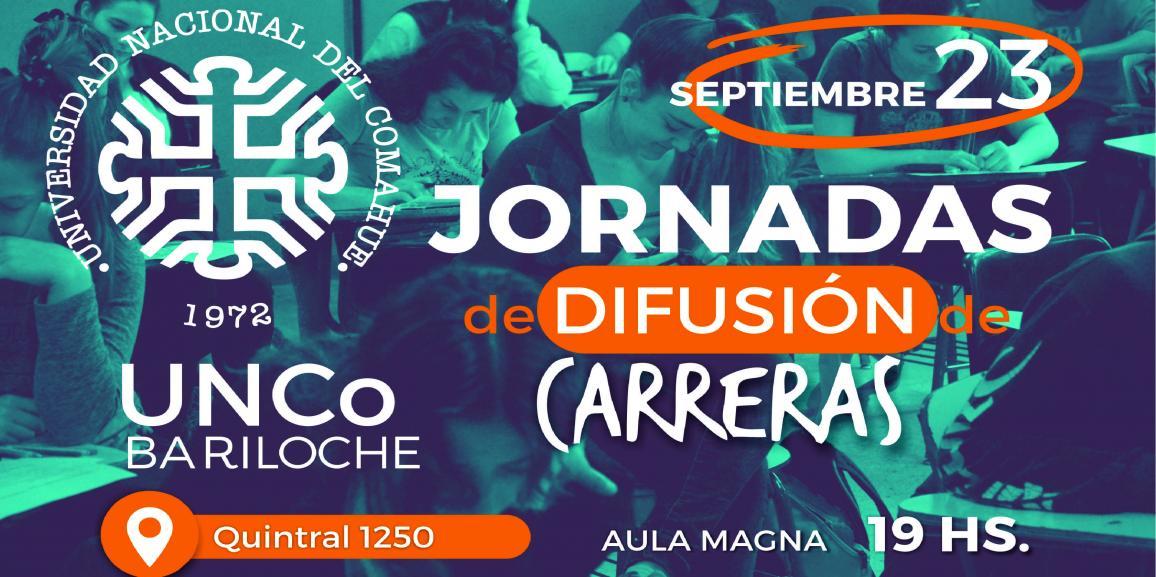 ¡Vení a estudiar a la UNCo Bariloche! Jornadas de difusión de carreras – Viernes 23 / 19hs
