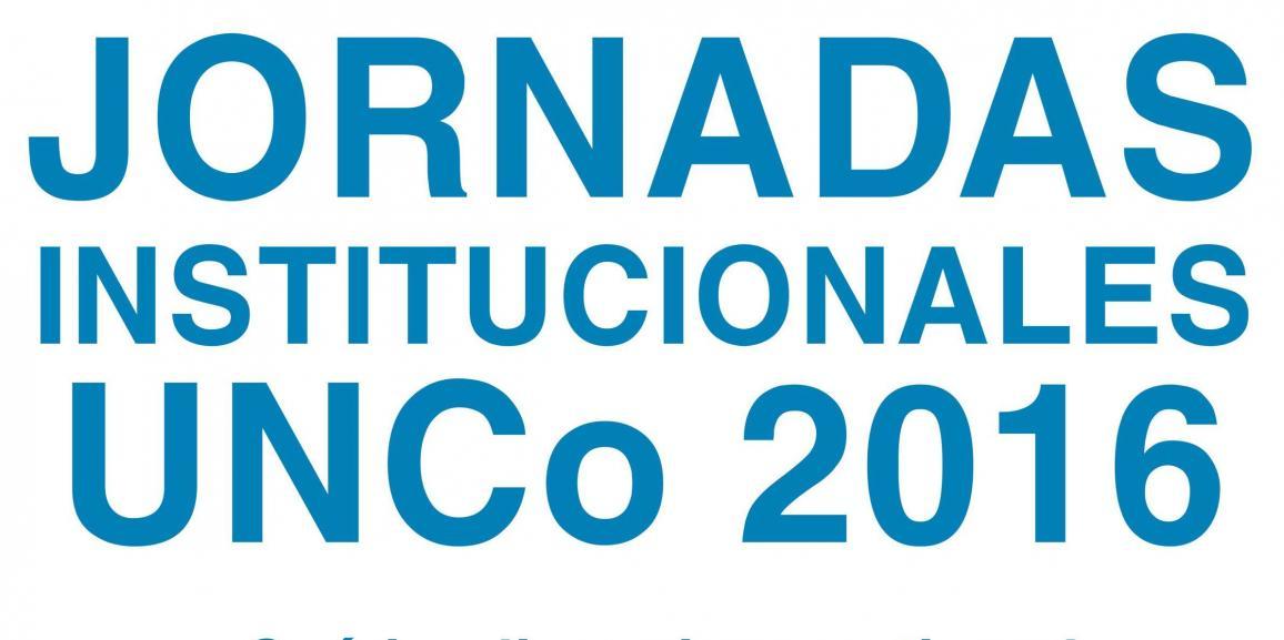 Jornadas institucionales UNCo 2016
